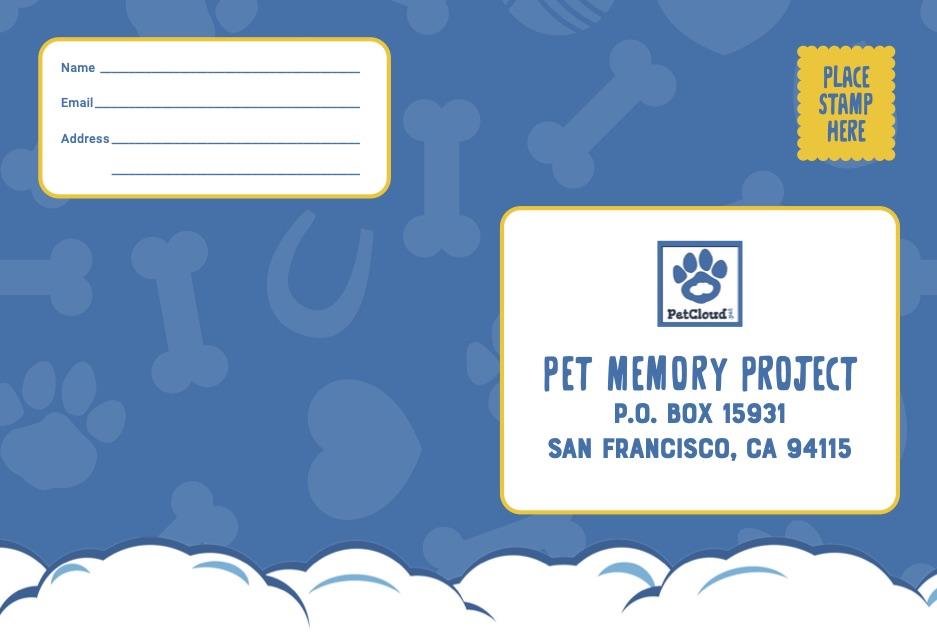 Pet Memory Project Postcard
